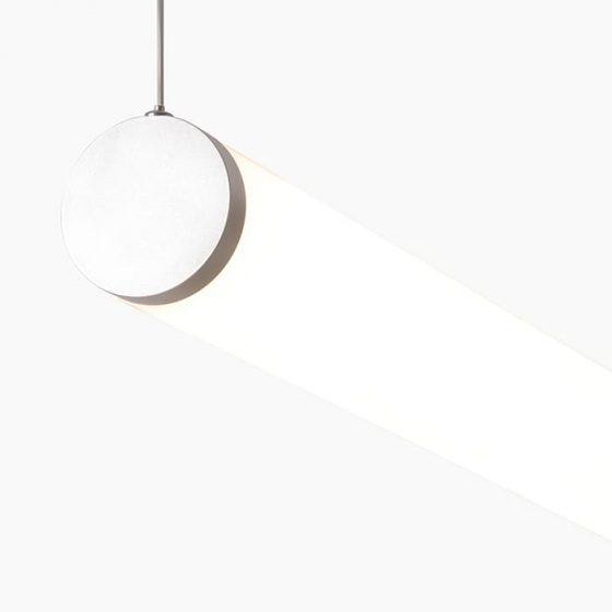 LUST50 is a tubular linear led profile track mounted round LED