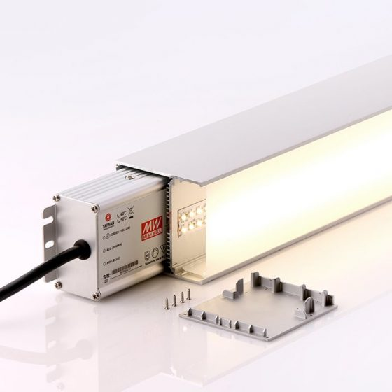 HLP7477 Surface/Suspended Linear LED Mounting Profile