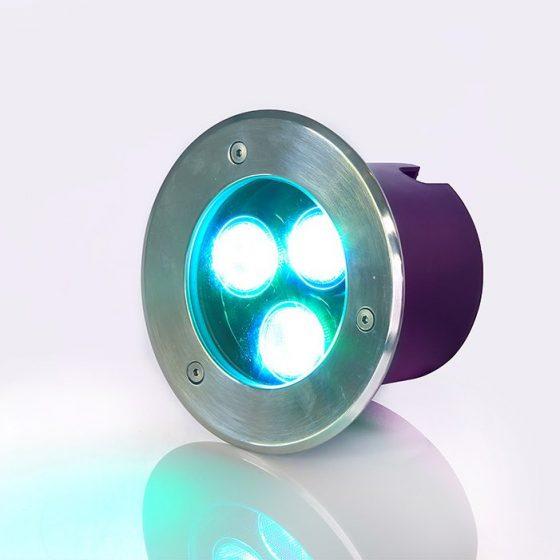 SL3263 Neptune Recessed Inground LED Uplight RGBW