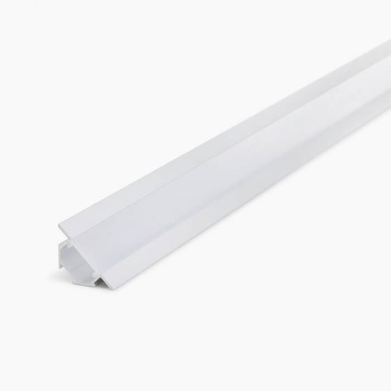 HLP3121 Corner LED Mounting Profile With Opal Diffuser