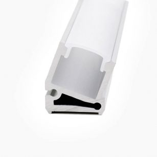 HLP3312 Angled LED Mounting Profile With Diffuser