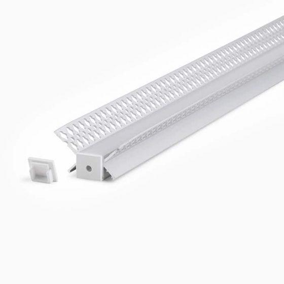 HLP3642 IP67 Waterproof Plaster Trimless Mounting Profile