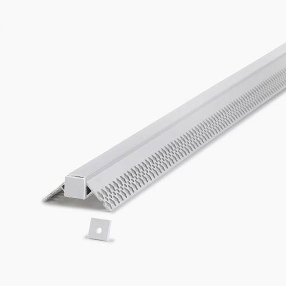 HLP3644 IP67 Waterproof Plaster Trimless Mounting Profile
