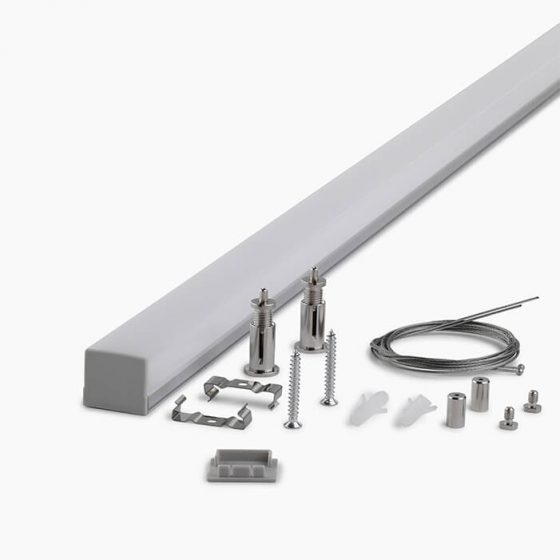 HLP3742 Square DOME LED Mounting Profile