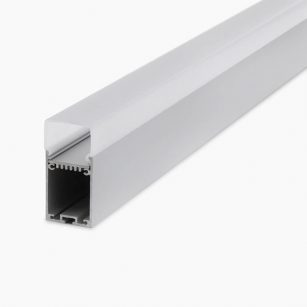 HLP3792 Surface Or Suspended LED Mounting Profile With Wrap Diffuser