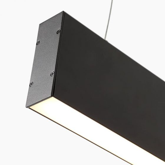 Superlight wire suspended Ceiling Recessed Linear LED Lighting profile.
